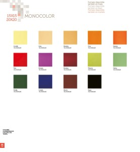 Cerámica Vilar Álbaro Serie Monocolor 15x15-20x20