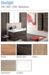 Muebles de baño Salgar Serie 50 Starlight