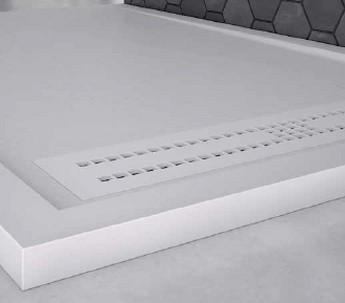 Plato de ducha Nudespol - Semimarco Textura Pizarra