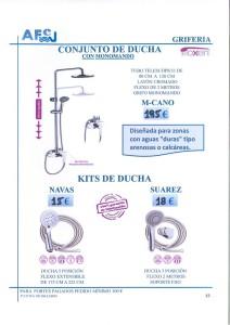 Conjuntos de ducha Oxen monomando navas suarez kit de ducha