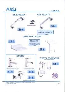 Varios de baño asa 30 lisa asa 30 anti asiento ducha grifo kubic cesta portagel