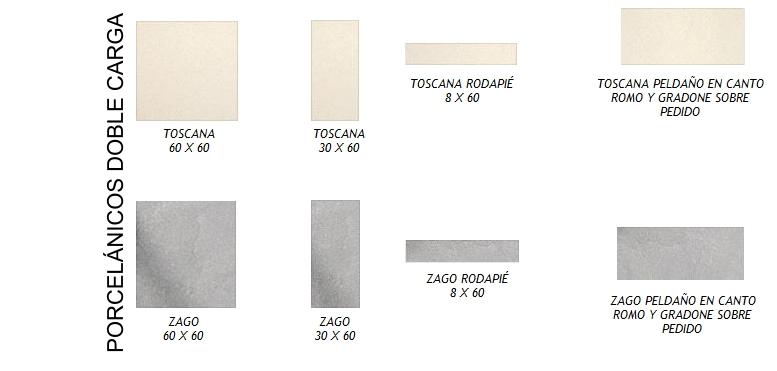 Castel - Pavimentos porcelánicos doble carga