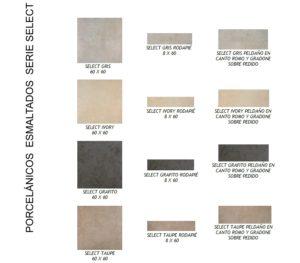 Castel - Pavimentos porcelánicos esmaltados serie select