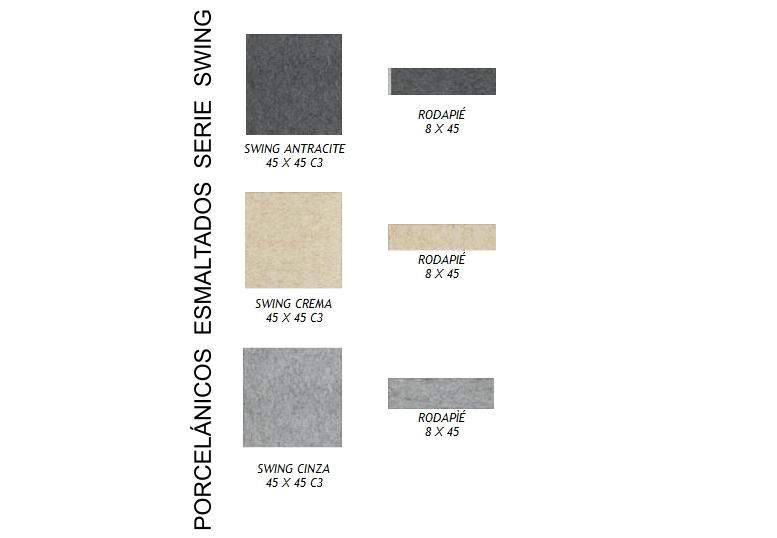 Castel - Pavimentos porcelánicos esmaltados serie swing