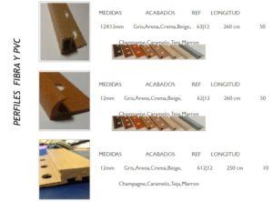 Castel - Perfiles de fibra y PVC