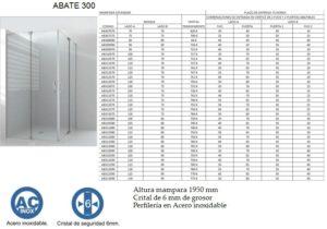 Mampara de baño Castel Abate 300