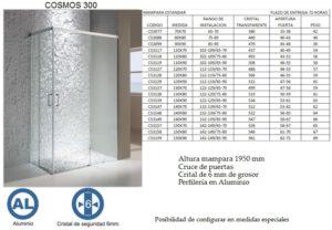Mampara de baño Castel Cosmos 300