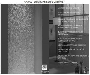 Mampara de baño Castel Cosmos Características