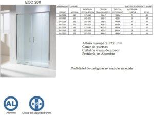 Mampara de baño Castel Eco 200