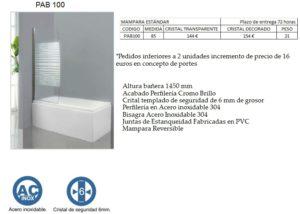 Mampara de baño Castel Pab 100
