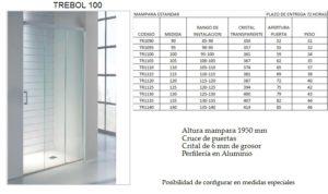 Mampara de baño Castel Trébol 100