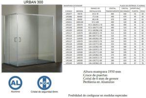 Mampara de baño Castel Urban 300