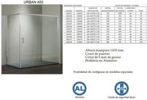 Mampara de baño Castel Urban 400