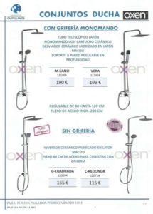 Conjunto de ducha Oxen opción 3