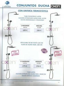 Conjunto de ducha Oxen opción 1